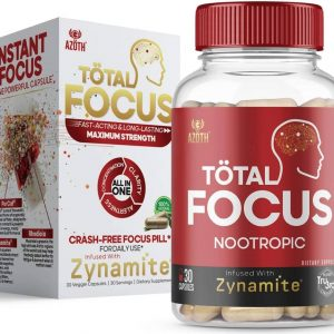 Azoth Total Focus Nootropic Supplement bottle and box
