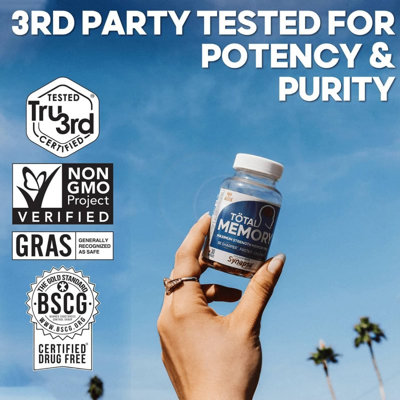 3rd Party Tested: AZOTH Total Memory Supplement Brain Extra Strength Memory Boost Cognition Focus Mental Clarity