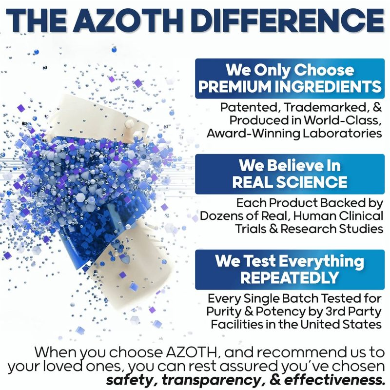 The AZOTH Difference: AZOTH Total Memory Supplement Brain Extra Strength Memory Boost Cognition Focus Mental Clarity