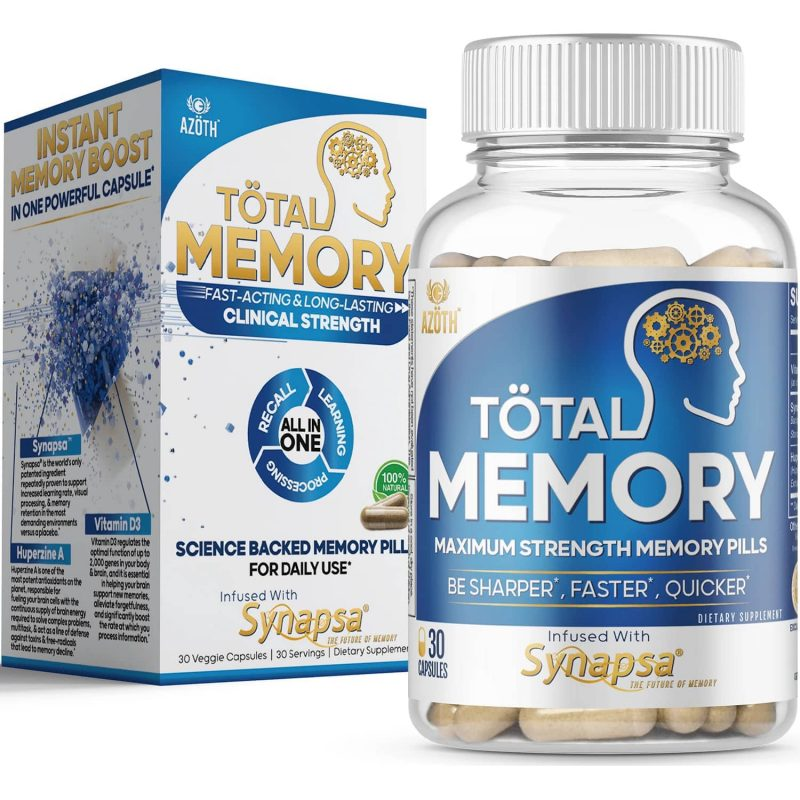 AZOTH Total Memory Supplement Brain Extra Strength Memory Boost Cognition Focus Mental Clarity