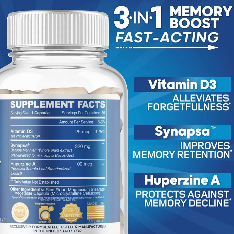 Ingredients: AZOTH Total Memory Supplement Brain Extra Strength Memory Boost Cognition Focus Mental Clarity