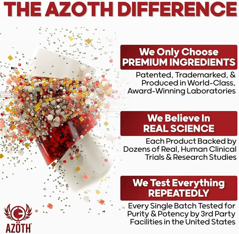The Azoth Difference: Azoth 3.0 Total Brain Supplement for Brain Health, Cognitive Performance & Motivation