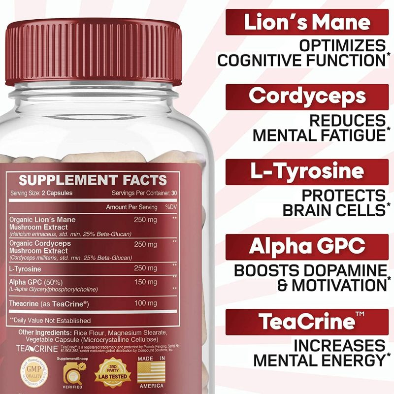Ingredients: Azoth 3.0 Total Brain Supplement for Brain Health, Cognitive Performance & Motivation